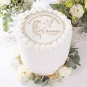 OPŁATEK personalizowany na tort komunijny Dziewczynka z Hostią Ø20cm
