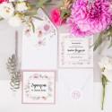 ZAPROSZENIE komunijne personalizowane Liliowe Love (+koperta z wnętrzem+naklejka)