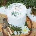 OPŁATEK personalizowany na tort na Komunię Liście Paproci Ø20cm