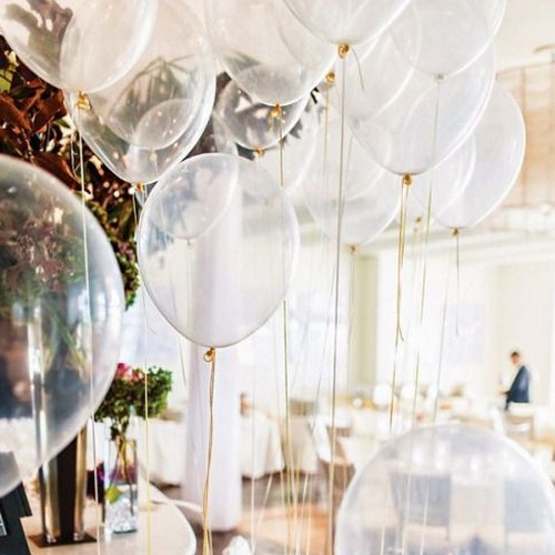 balony transpoarentne na Komunię