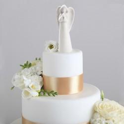 ANIOŁ porcelanowy na tort komunijny 14,5cm