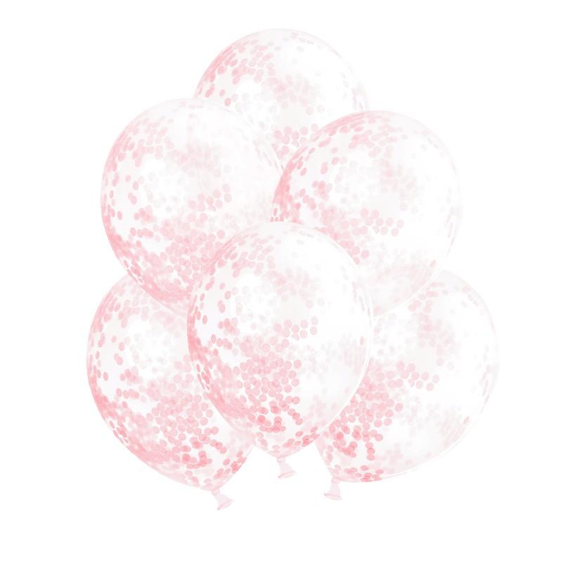 Transparentne balony na chrzest dla dziewczynki