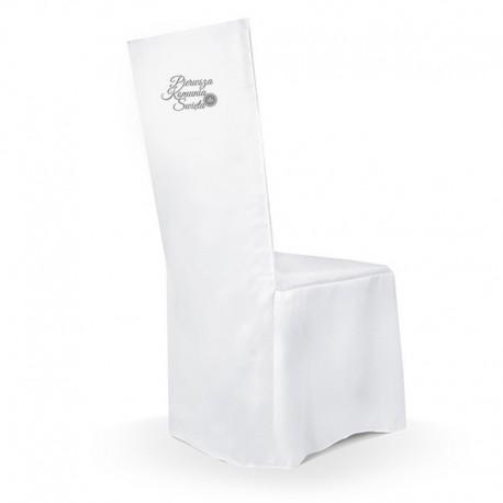 POKROWIEC na krzesło komunijne Pierwsza Komunia SREBRNY