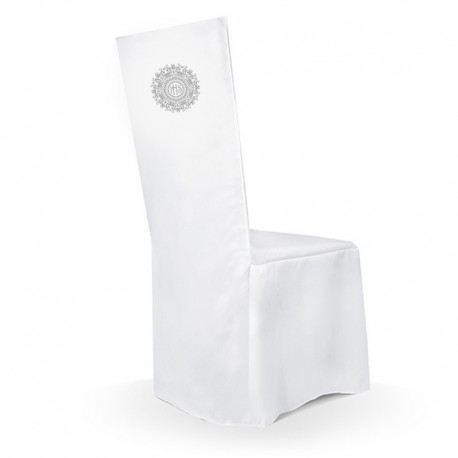 POKROWIEC na krzesło komunijne Srebrna Hostia