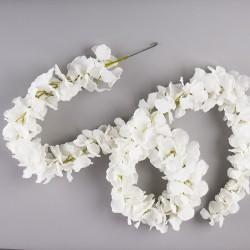 GIRLANDA kwiatowa Białe Kwiaty 170cm
