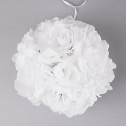 KULA kwiatowa biała 21 cm