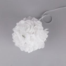 KULE kwiatowe białe 17cm 3szt