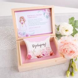 PODZIĘKOWANIE dla Chrzestnych/Dziadków w pudełku Z dziewczynką Liliowe Love