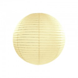 KULA papierowa lampion 35cm KREMOWY