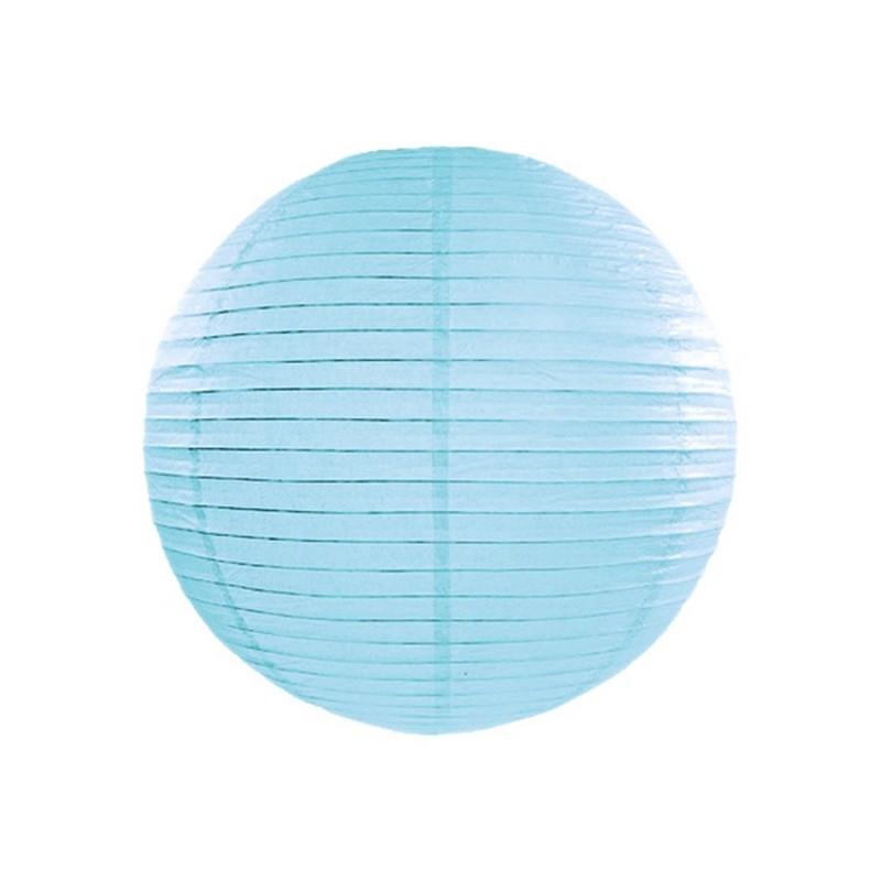 lampion kula papierowa niebieska