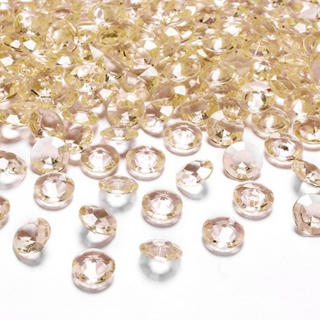 DIAMENCIKI ozdobne na stoły 100szt ZŁOTY