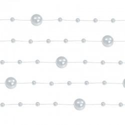 GIRLANDY z pereł i perełek na żyłce 5szt SREBRNE