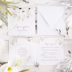 ZAPROSZENIA na Chrzest Świeżość Kwiatów 10szt (+koperty)