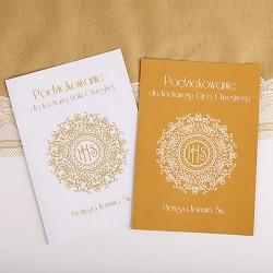 PODZIĘKOWANIE dla Chrzestnych/Dziadków IHS Exclusive A4 na Komunię