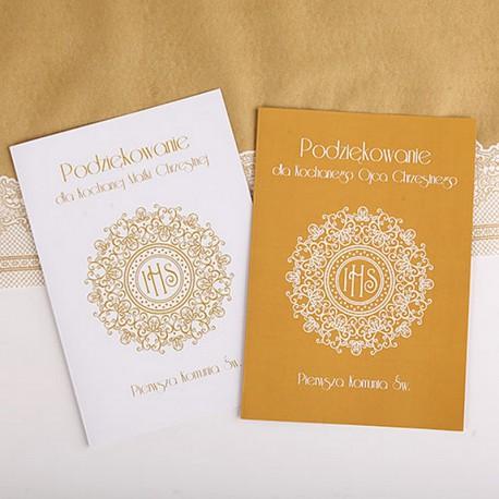 PODZIĘKOWANIE dla Chrzestnych/Dziadków IHS Exclusive A4
