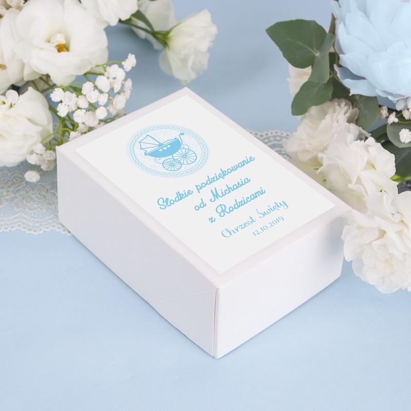 pudełko z imieniem na chrzest