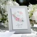 DEKORACJA stołu na Chrzest tabliczka Zapach Piwonii (+biała ramka)