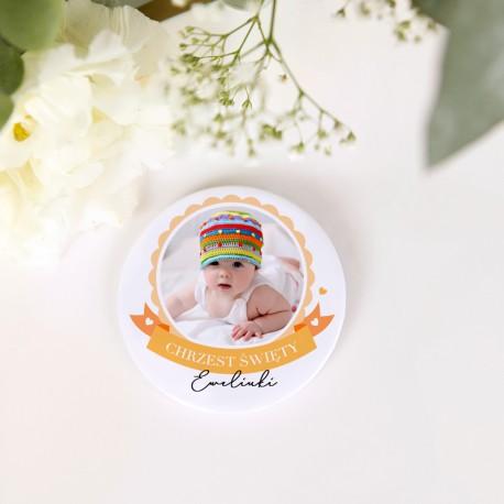 MAGNES na Chrzest ZE ZDJĘCIEM dziecka personalizowany