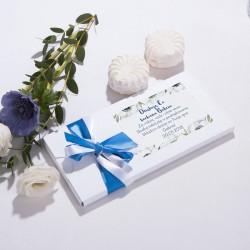 CZEKOLADOWNIK dla Chrzestnych/Dziadków biały Granatowe Anemony na Komunię