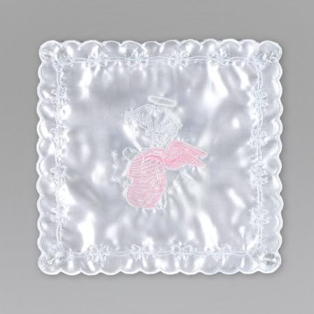 CHUSTECZKA do Chrztu Różowy Aniołek