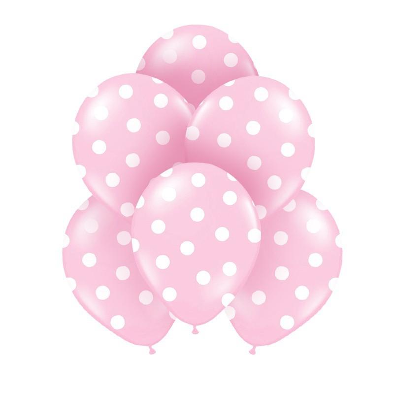 balony na urodzinki różowe