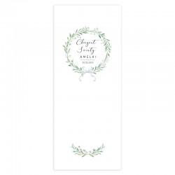 KAKEMONO personalizowane + listwa 60x150cm na Chrzest Lily of the Valley