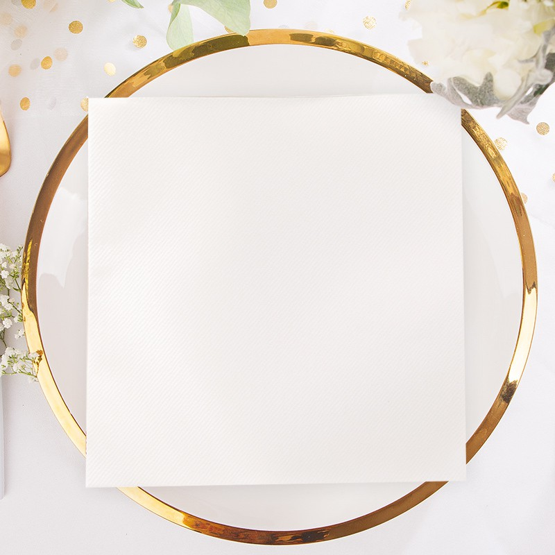 białe serwetki flizelinowe