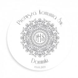 OPŁATEK personalizowany na tort Srebrna Hostia Ø20cm