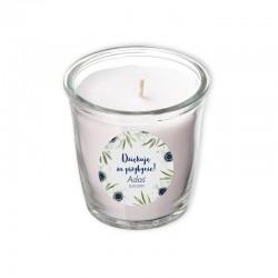ŚWIECA zapachowa w szkle Z IMIENIEM Granatowe Anemony