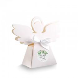 PUDEŁECZKA Aniołek Delikatne Kwiaty 10szt (+etykiety z imieniem+białe wstążki)