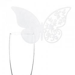 WINIETKI na kieliszki Motyl w kwiatach 10szt