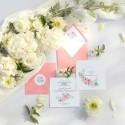 ZAPROSZENIE komunijne personalizowane Zapach Piwonii (+koperta z wnętrzem+naklejka)