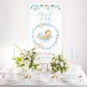 Dekoracja sali na Chrzest + listwa 60x150cm Chłopiec w Kwiatach
