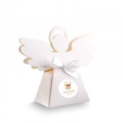PUDEŁECZKA Aniołek Złoty Wózeczek 10szt (+etykiety z imieniem+białe wstążki)