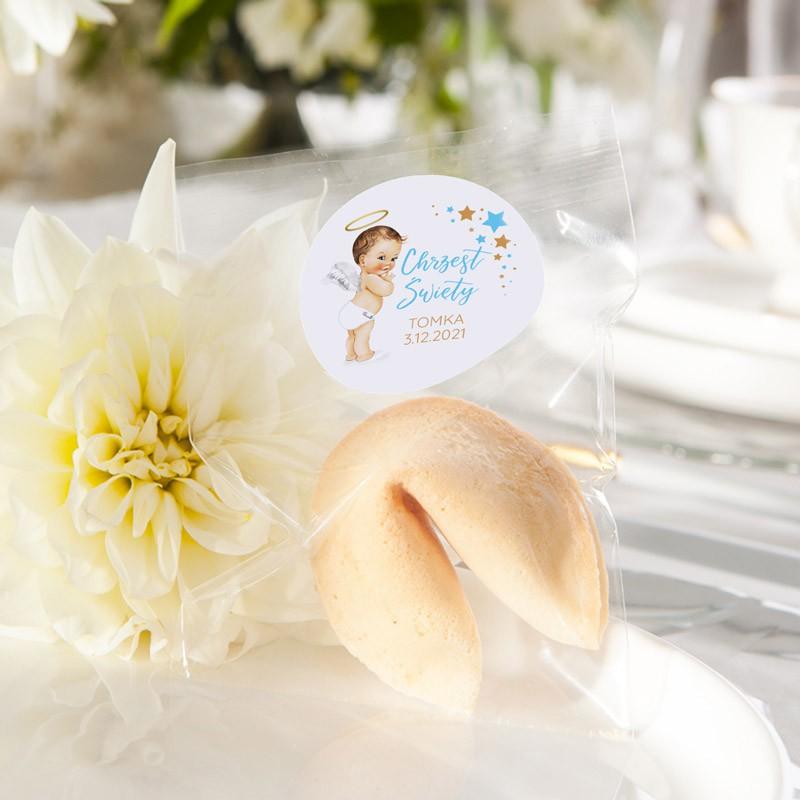 Ciasteczko z wróżbą niebieski aniołek