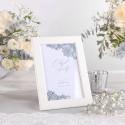 DEKORACJA stołu na Chrzest tabliczka w Srebrze (+ramka)