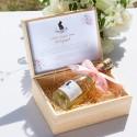 SZAMPAN bezalkoholowy dla Przyszłej Mamy w skrzyni Zapach Piwonii Baby Shower + IMIĘ KONIEC SERII