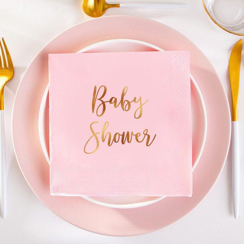 Serwetki na Baby Shower dziewczynki