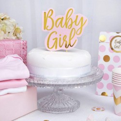 Topper na tort na Baby Shower Baby Girl różowy