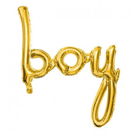 Balon foliowy Boy Złoty 63,5x74cm