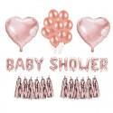 ZESTAW balonów na Baby Shower Rosegold