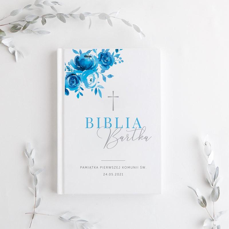 Pamiątka komunijna biblia dla chłopca