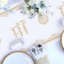 BIEŻNIK komunijny dekoracja stołu obrus Pierwsza Komunia 40cmx5m
