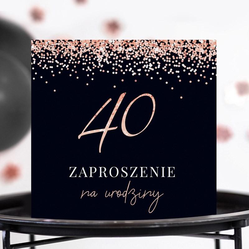 Zaproszenia na 40 urodziny dla kobiety