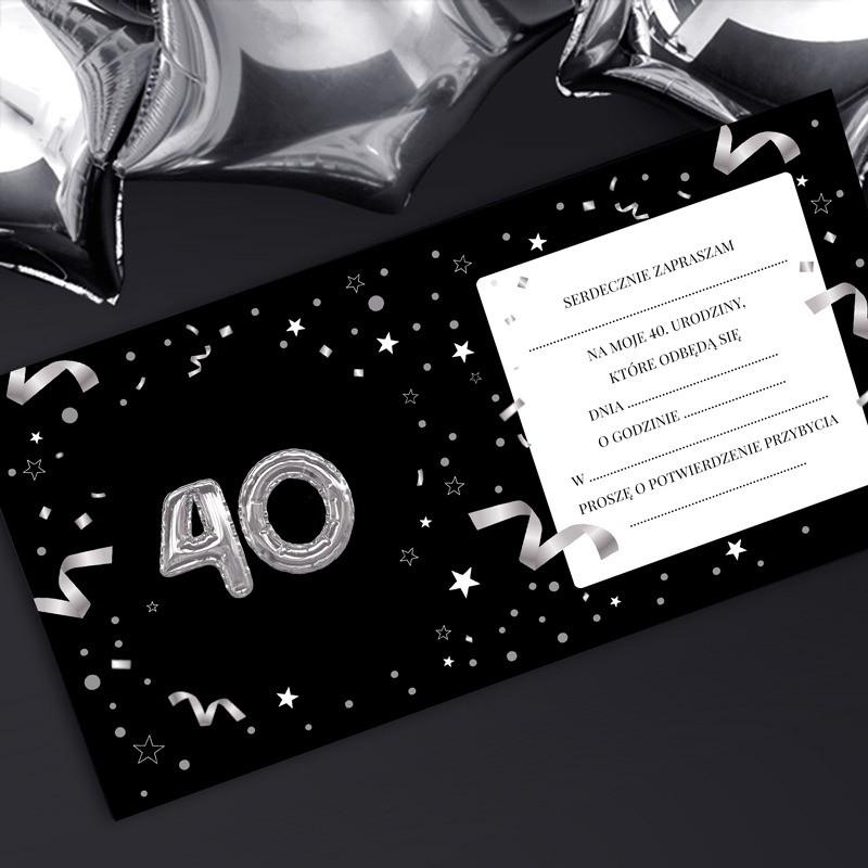 Zaproszenia na 40 urodziny tekst