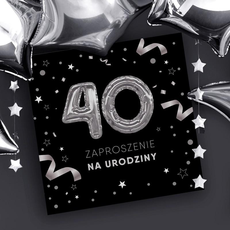 Zaproszenia na 40 urodziny dla mężczyzny