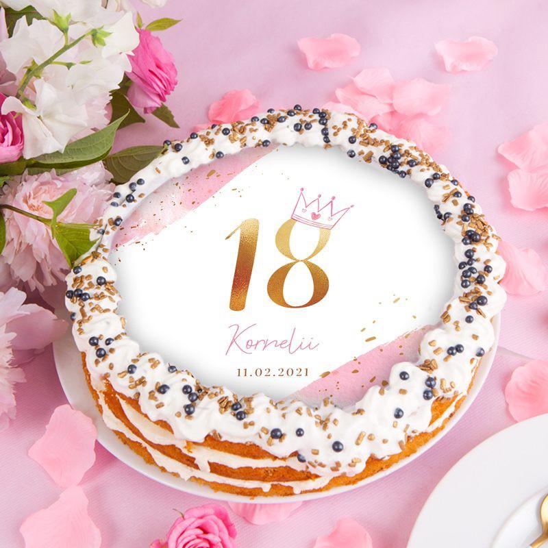 Opłatek na tort na 18