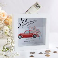SKARBONKA prezent na 18 urodziny Z IMIENIEM Na pierwszy samochód
