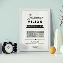 PREZENT na 18 urodziny Twój Pierwszy Milion Z IMIENIEM