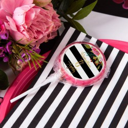 LIZAKI z IMIENIEM na 18 Flowers&Stripes (+etykiety) 10szt